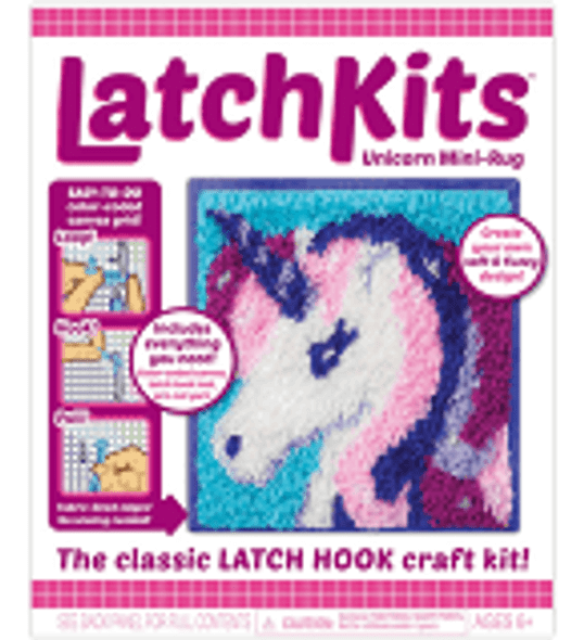Unicorn Latch Rug Kit- Kahootz
