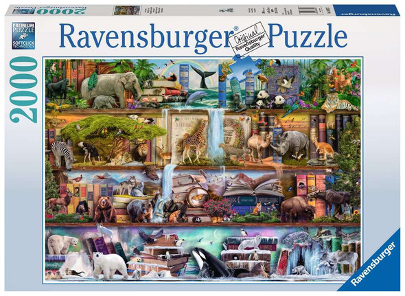 Wild Kingdom Shelves 2000 piece puzzle