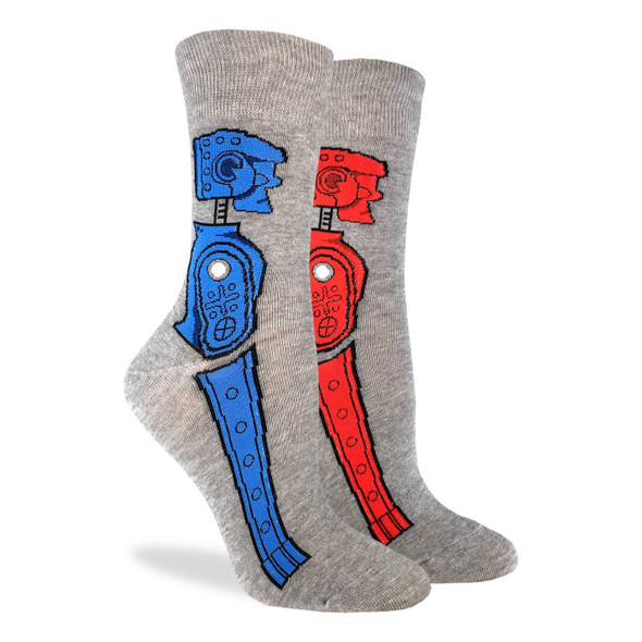 Rock 'em Sock 'em Robot Socks by Good Luck Socks