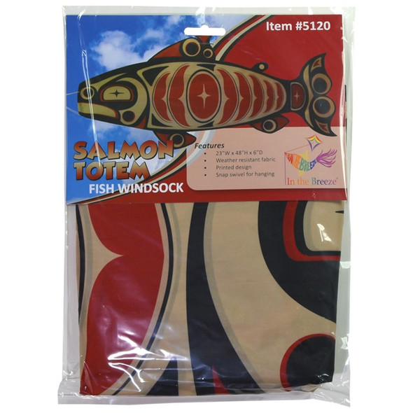 Salmon Totem fish windsock