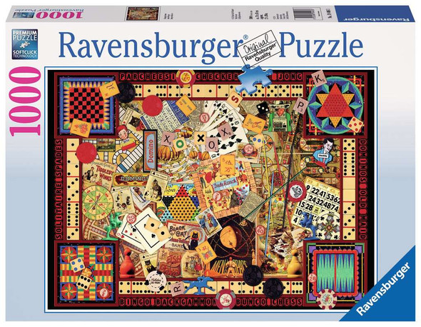 Vintage Games 1000 pc Puzzle by Ravensburger
