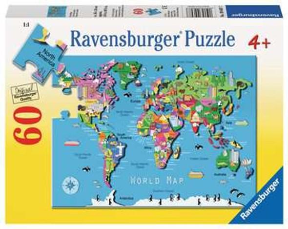 Ravensburger World Map 60pc