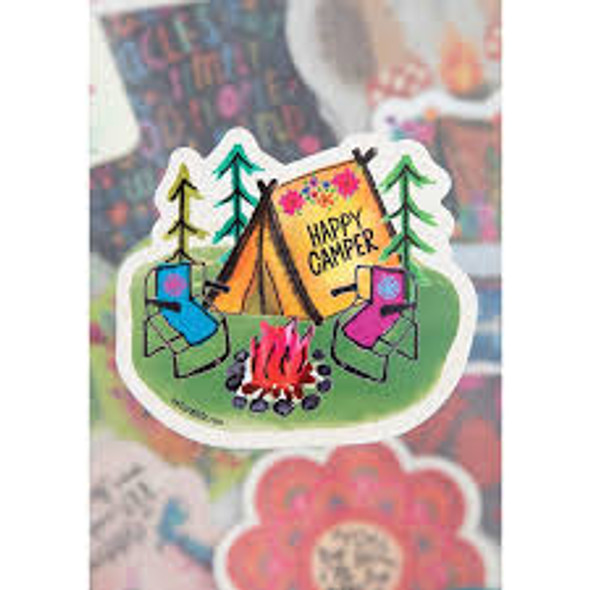 NL Happy Camper Sticker