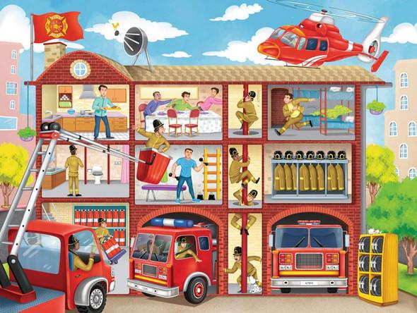 Firehouse Frenzy 100 pc XXL puzzle