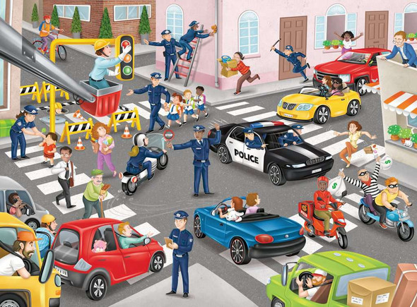 Police on Patrol 100 pc XXL puzzle