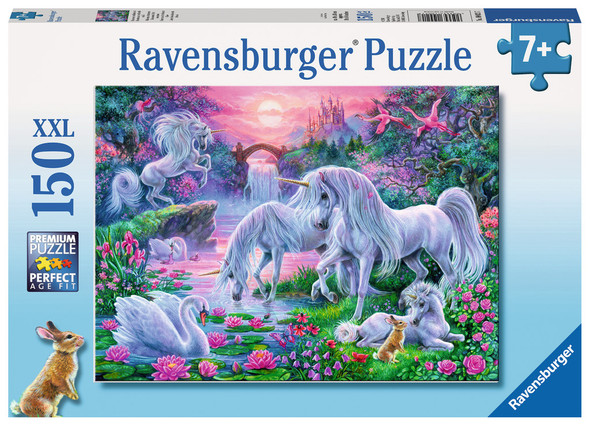 Unicorns in the Sunset Glow 150 pc XXL puzzle