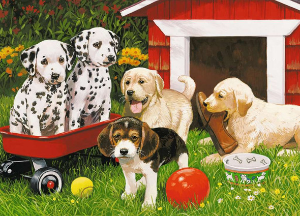 Puppy Party 60 pc puzzle by Ravensburger