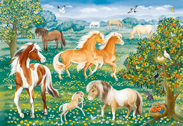 Mustang Meadow 60 pc puzzle by Ravensburger