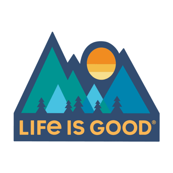 Mountains Die Cut Sticker-Life is Good
