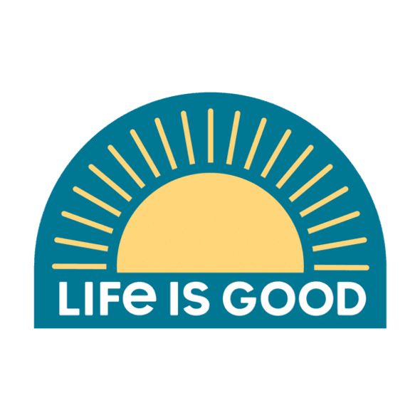 Sunrise Die Cut Sticker- Life is Good
