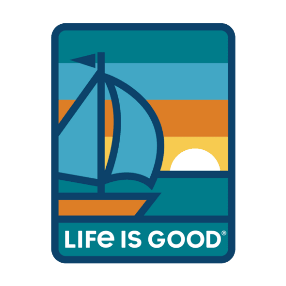 Sunset Sail Sticker- Life is Good