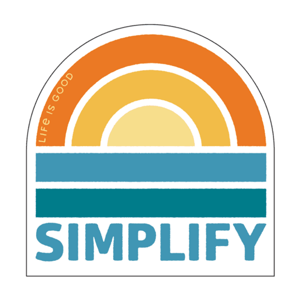 Simplify Rainbow Sticker- Life is Good