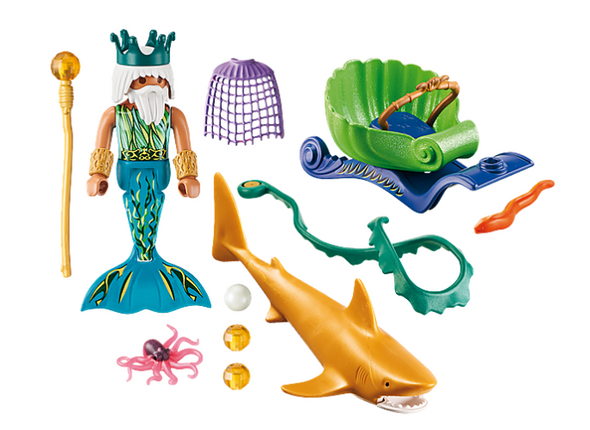 King of the Sea with Shark- Playmobil