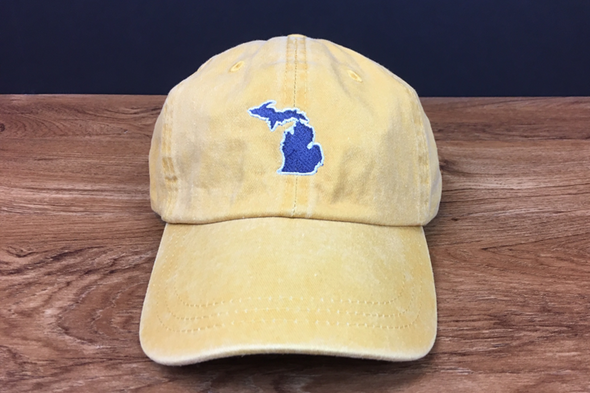 Michigan Awesome Dad Hat- Gold