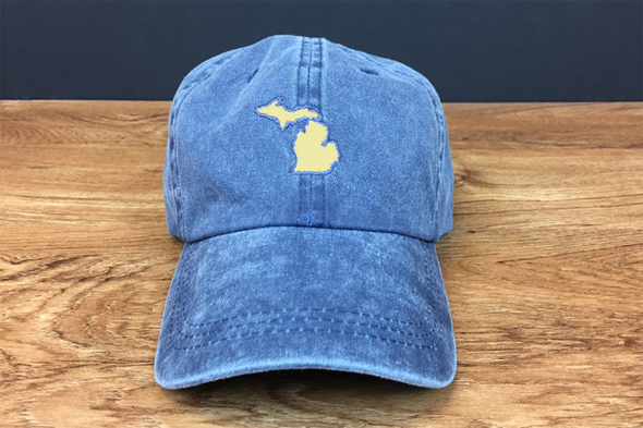 Michigan Awesome Dad Hat- Blue