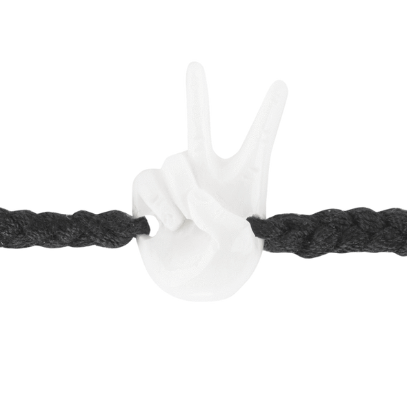WB Peace Hand Bracelet-Black