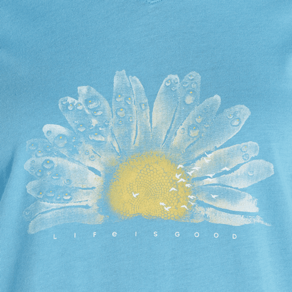 Watercolor Daisy LS tee by Life is Good
