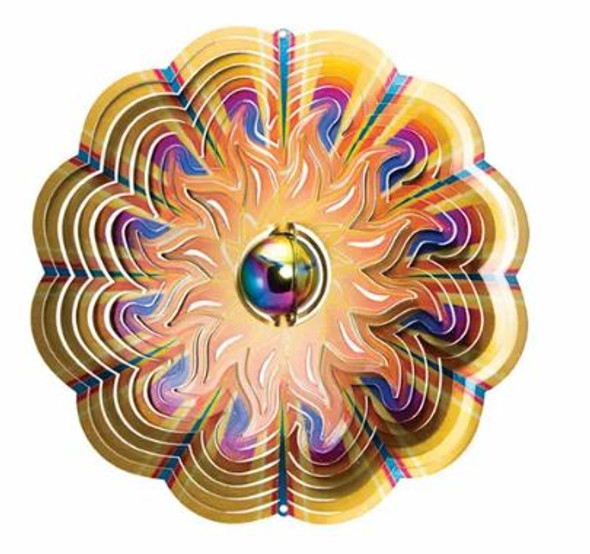 Gazing Ball Sun spinner by Spinfinity