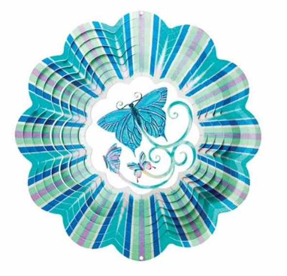 3D Blue Butterfly spinner by Spinfinity