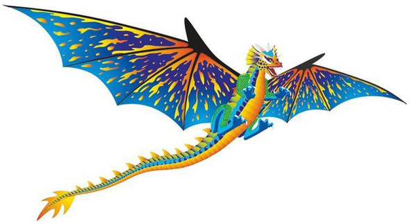 3D Blue Dragon single line kite