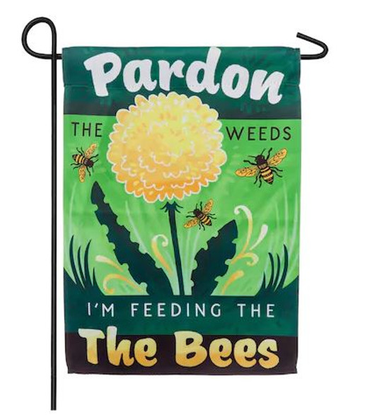 Pardon the Weeds Garden Flag