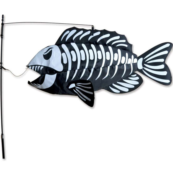Swimming Fish Bones yard art