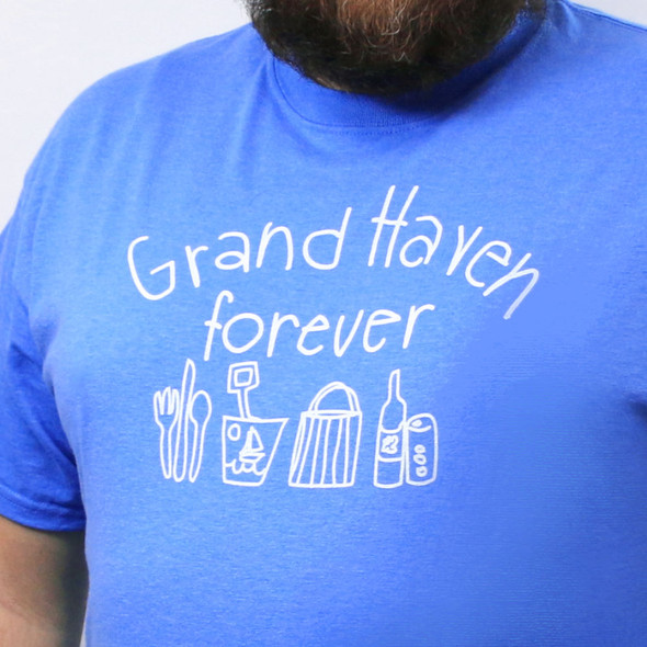 Eat Play Shop Drink Grand Haven Forever tee