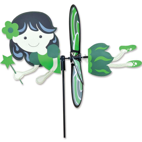 """Green Fairy 15"""" Garden Spinner"""