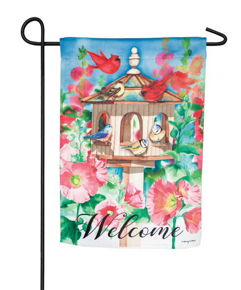 Cheerful Gathering Garden Flag