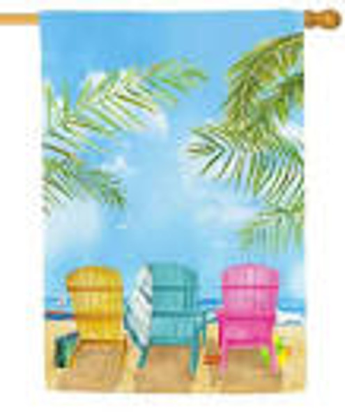 Beach Chairs House Flag