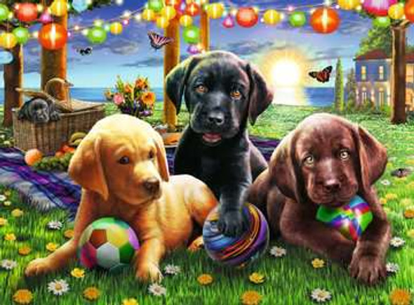 Puppy Picnic 100 pc XXL Puzzle