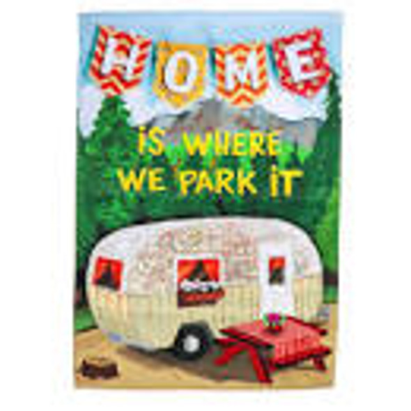 Home is Where We Park House Flag