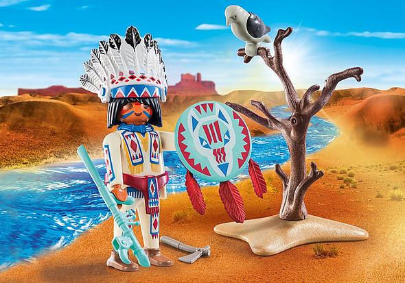 Native American Chief Figurine