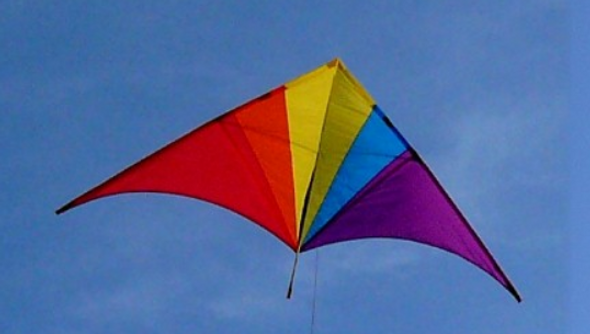 10 ft Falcon Delta Kite - Rainbow