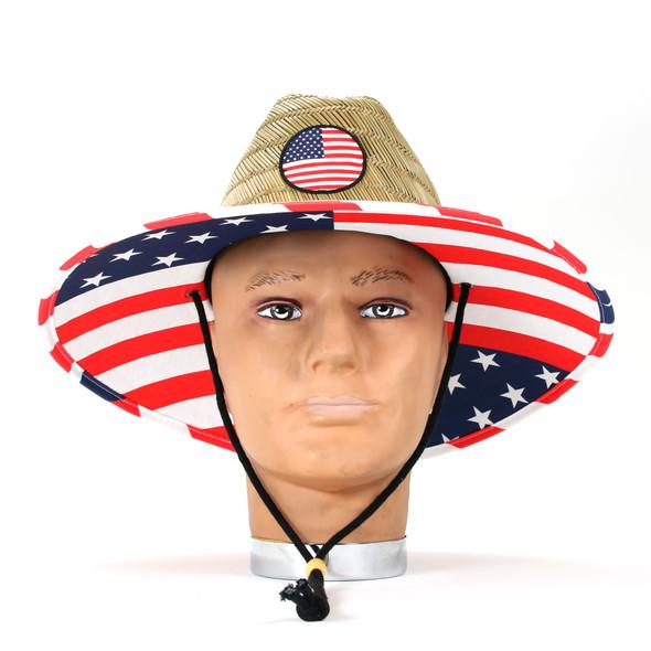 USA Lifeguard Hat with badge