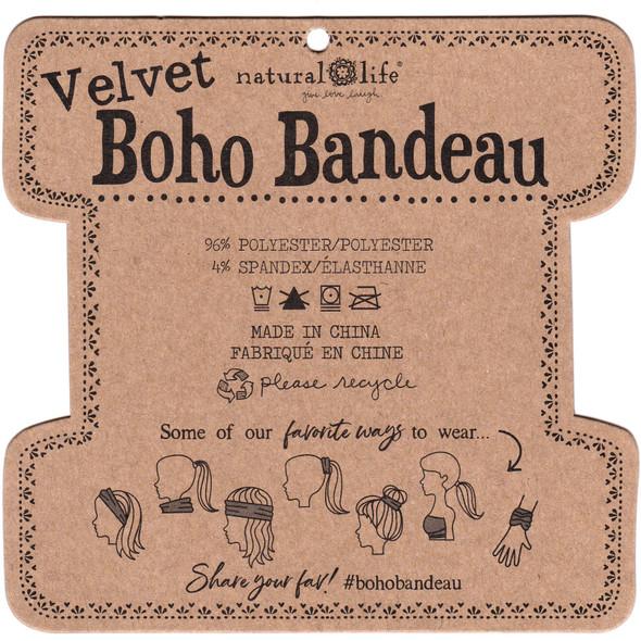 Velvet Boho Bandeau in Black