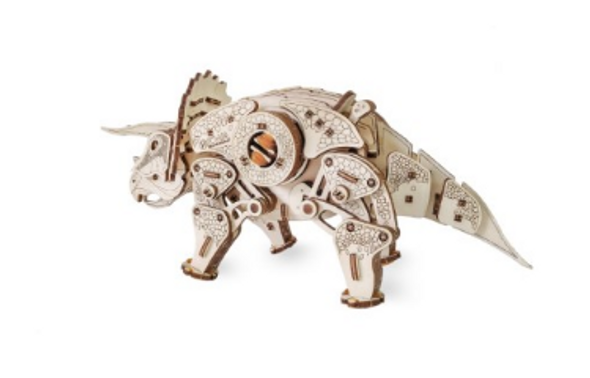 Eco Wood Art - Walking Triceratops