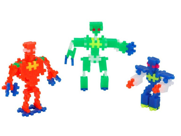 Plus Plus Neon Robots Set - 170 pc