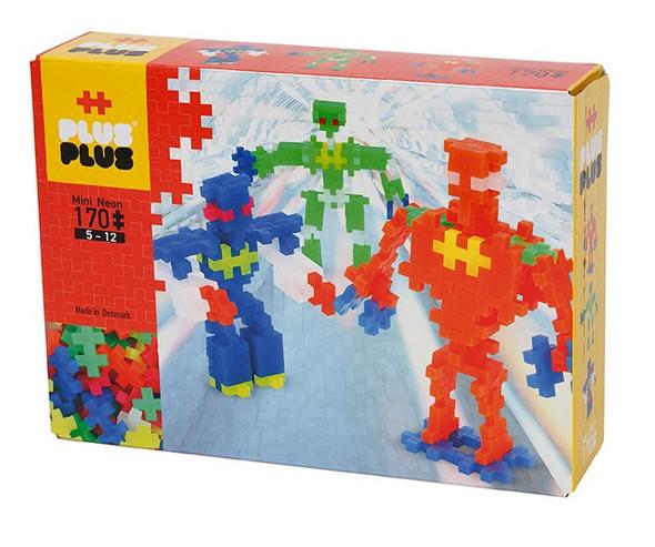 Plus Plus Neon Robots Set - 170 pc