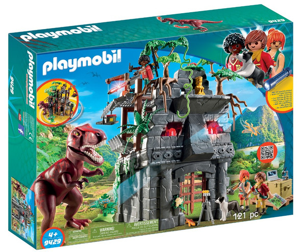 Playmobil Hidden Temple w/ T-Rex