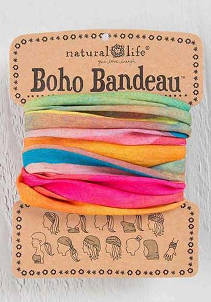 Pink Rainbow Ombre Boho Bandeau