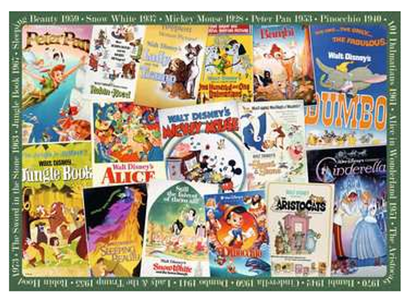 Disney Vintage Movie Poster 1000 pc Puzzle