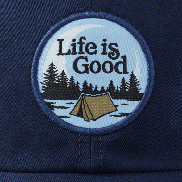 Tent Camp Scene patch soft mesh hat