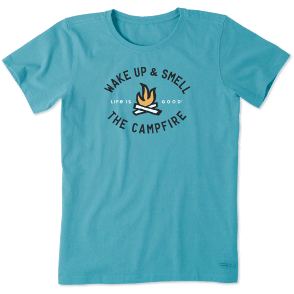 Smell the Campfire women's tee