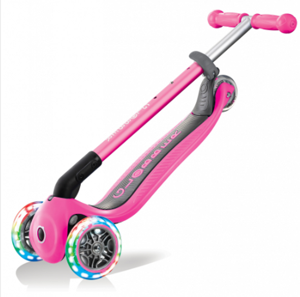 Primo Foldable Scooter with Lights - Pink