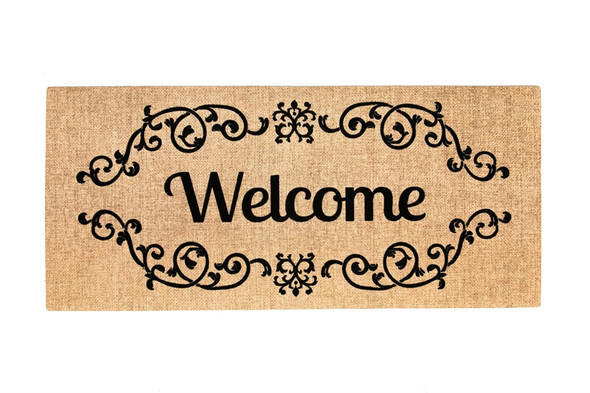 Welcome Scroll Sassafras Mat