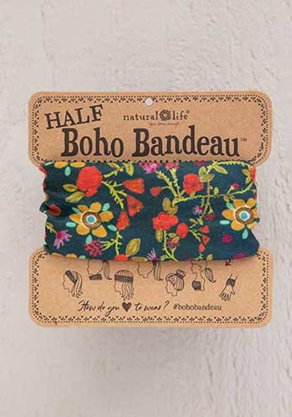 Forest Floral Half Boho Bandeau