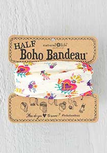 Heart Flowers Half Boho Bandeau