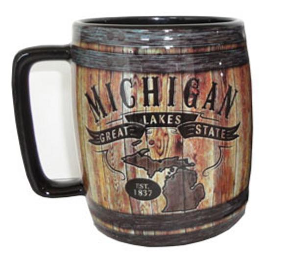 Michigan Barrel Mug