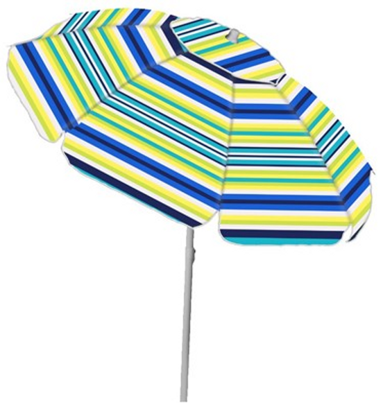 7' Poly Stripe Umbrella